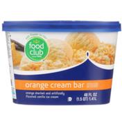 Food Club Orange Cream Bar Orange Sherbet And Vanilla Ice Cream