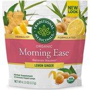 Traditional Medicinals Organic Morning Ease Lemon Ginger Anti-nausea Lozenges
