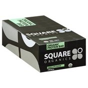 Square Organics Protein Bar, Organic, Crunch, Chocolate Coated