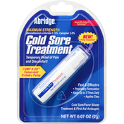 Abridge Cold Sore Treatment, Maximum Strength