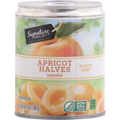 Signature Select Apricot Halves, Unpeeled, In heavy Syrup