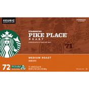 Starbucks Pike Place Medium Roast Ground Coffee K-Cup Pods