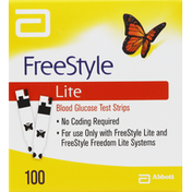 Free Style Test Strips, Blood Glucose