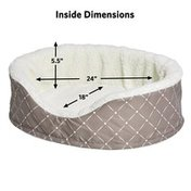 Midwest Pet Products Medium Quiet Time Ortho Mushroom Cradle Dog Bed