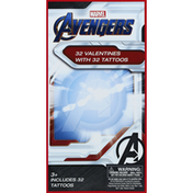 Avengers Valentines, with Tattoos