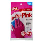 Handi Works In-The-Pink Reusable Gloves  Latex Gloves Large