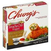 Chungs Egg Rolls, White Meat Chicken, Sriracha Chili Wrapped