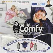 The Comfy Blanket/Sweatshirt, Blue