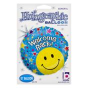 Betallic Holographic Balloon Welcome Back!