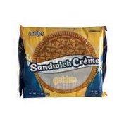 Meijer golden Sandwich Creme VANILLA FLAVORED SANDWICH COOKIES