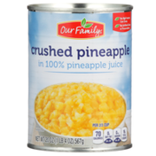 Our Family Crushed Pineapple In 100% Pineapple Juice