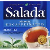 Salada Black Tea, Naturally Decaffeinated, Tea Bags