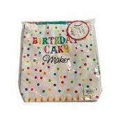 Design Imports Birthday Cake Maker Ruffled Apron