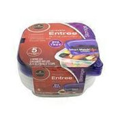 Roundy's Plastic Entree Storage Containers