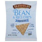Beanfields Bean & Rice Chips, Ranch, Bag