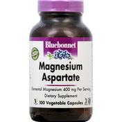 Bluebonnet Magnesium Aspartate, 400 mg, Vegetable Capsules