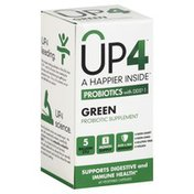 UP4 Probiotics with DDS-1, Green, Vegetable Capsules