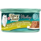 Purely Fancy Feast Medleys White Meat Chicken Primavera Pate Cat Food
