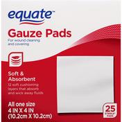 Equate Gauze Pads, One Size
