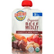 Earth's Best Stage 3 Beef Medley with Vegetables Organic Homestyle Meal Puree