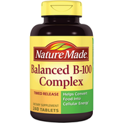Nature Made Balanced B-100 Complex Helps Convert Food Into Cellular Energy DIETARY SUPPLEMENT TIMED RELEASE TABLETS