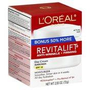 L'Oreal Day Cream, Anti-Wrinkle + Firming, SPF 18, Bonus