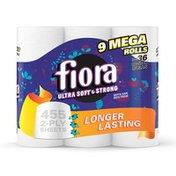 Fiora Bath Tissue, Unscented, Mega-Roll, 2-Ply