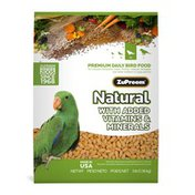ZuPreem Premium Daily Bird Food for Conures, Amazons, Greys, Pionus, Caiques, Senegals and Other Medium to Large Parrots
