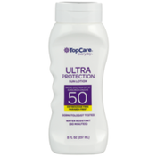 TopCare Ultra Protection Water Resistant Uva/Uvb Broad Spectrum Spf 50 Sunscreen Lotion