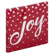 Creative Converting Napkin, Beverage, Joy Red Holiday Sparkle Foil Stamp, 3-Ply