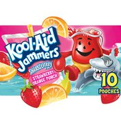 Kool-Aid Jammers Sharkleberry Fin Strawberry Orange Punch Flavored Drink