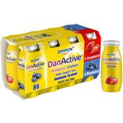 DanActive Probiotic Dailies Blueberry & Strawberry Dairy Drink, Variety Pack