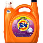 Tide Plus Febreze Freshness Spring And Renewal Scent HE Turbo Clean Liquid Laundry Detergent, 150 oz, 78 loads  Laundry