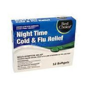 Best Choice Night Time Cold & Flu Relief Softgels