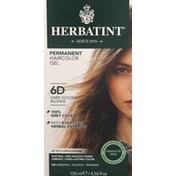 Herbatint Haircolor Gel, Permanent, Dark Golden Blonde 6D