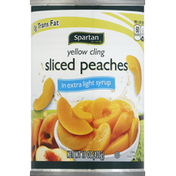 Spartan Peaches, Sliced, Yellow Cling, in Extra Light Syrup