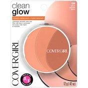 CoverGirl Clean Glow Lightweight Powder Bronzer, Spices, Female Cosmetics