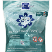 Signature Home Laundry Power Pacs, Ultra Concentrated, Mountain Fresh