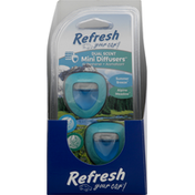 Refresh Your Car Diffusers, Dual Scent, Summer Breeze, Alpine Meadow, Mini