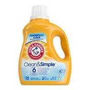 Arm & Hammer Clean & Simple, 54 Loads Liquid Laundry Detergent,