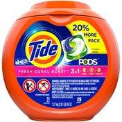 Tide PODS Liquid Laundry Detergent Pacs, Fresh Coral Blast