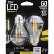 Feit Electric Light Bulbs, LED, Soft White, 6 Watts