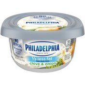 Philadelphia Chive and Onion Reduced Fat Cream Cheese Spread