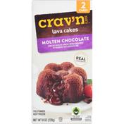 Crav'n Flavor Lava Cakes, Molten Chocolate