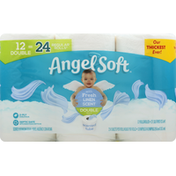 Angel Soft Bathroom Tissue, 2-Ply, with Fresh Linen Scent, Double Roll