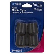 Waxman Chair Tips, Rubber, Black, 7/8 to 1 Inch