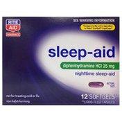 Rite Aid Sleep-Aid Diphenhydramine Hcl 25 Mg