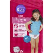 Basics For Kids Training Pants, Girls, Size 3T-4T (32 lb-40 lb)