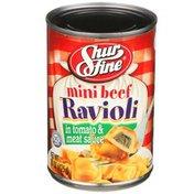 Shurfine Mini Beef Ravioli In Tomato & Meat Sauce