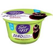 Dannon Zero Artificial Sweeteners Black Cherry Nonfat Yogurt